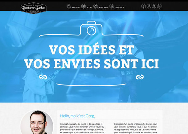 Site internet photographe