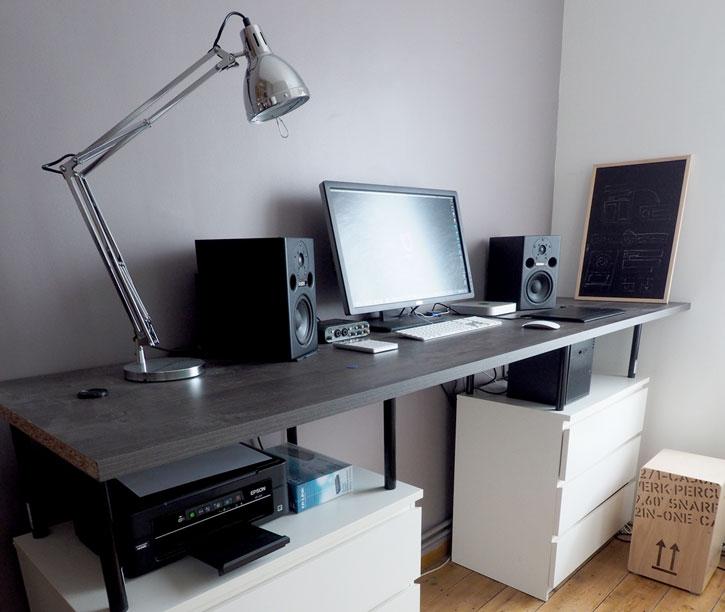 bureau debout avec des meubles ikea On ikea galant bureau debout hack