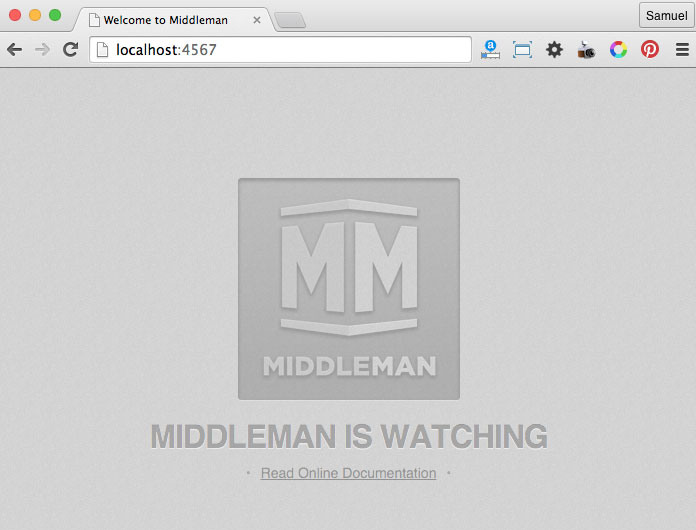 Middleman on localhost